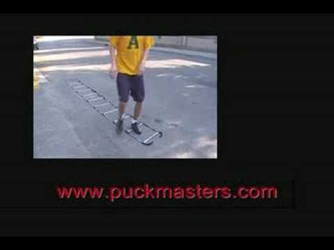 Hockey Dryland Drill Crossovers on Speed Ladder:  Hockey Skills by Pete Fry