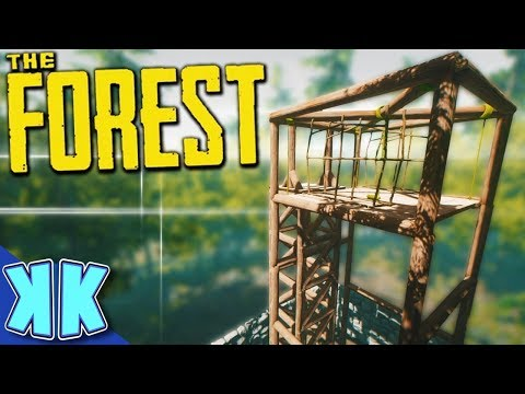 The Forest - IS THIS THE BEST LOG FARMING SET UP? - Forest Fridays - #5
