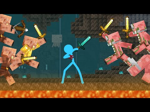 The Piglin War - Animation vs. Minecraft Shorts Ep 20