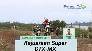 Aksi Joki Motocross Pada Kejuaraan Super GTX-MX 2019 di Sirkuit Lamnyong Banda Aceh