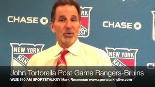 John Tortorella Rangers Bruins Post Game/WLIE 540 AM SPORTSTALKNY Mark Rosenman