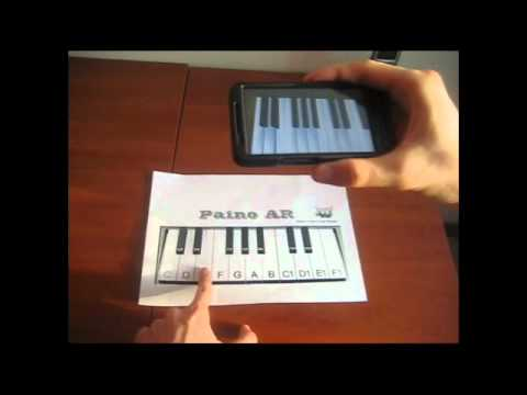 Video of Piano AR (Augmented reality)