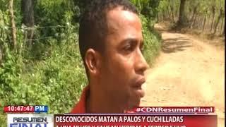 Desconocidos matan a palos y cuchilladas a una mujer y causan heridas a esposo e hijo