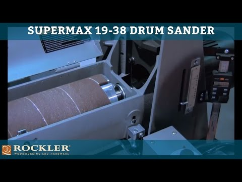 Supermax 19-38 Drum Sander at IWF 2012