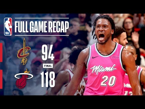 Video: Full Game Recap: Cavaliers VS Heat | Winslow Leads Miami