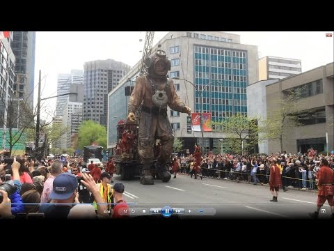 Giant Marionettes in Montreal. 21.05.2017