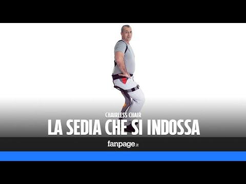 Chairless Chair, la sedia indossabile