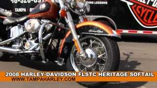 8. Used 2008 Harley Davidson FLSTC Heritage Softail  Classic 105th Anniversary Motorcycle for sale