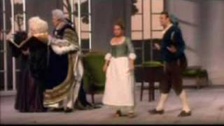 From a 1993 performance of Mozarts Le nozze di Figaro (The Marriage of Figaro) at the Théàtre du Châlet in Paris, directed by Jean Louis Thamin and conducted by John Eliot Gardiner. Bryn Terfel (Figaro), Alison Hagley (Susanna), Rodney Gilfry (Count Almaviva), Susan McCulloch (Marcellina), Carlos Feller (Bartolo), Francis Egerton (Don Curzio).