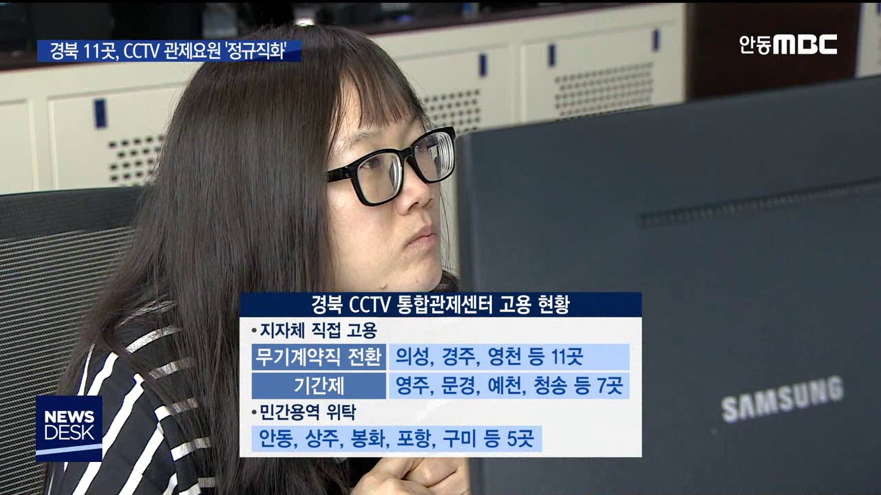 R]경북 11곳, CCTV 관제요원 '정규직화'