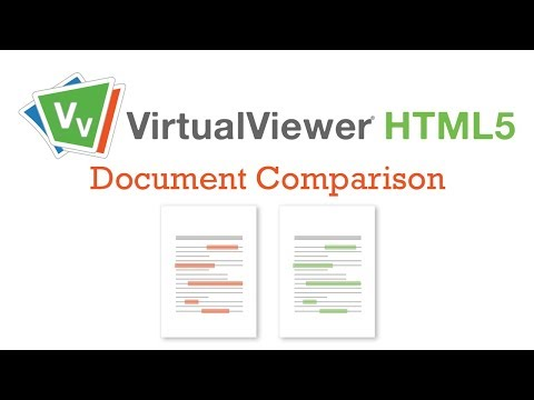 VirtualViewer HTML5 Accelerates Workflow with Document Comparison