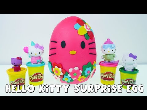 Play doh - Hello Kitty Play-Doh Surprise Egg Full of Surprise Toys by DCTC Amy Jo