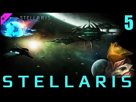 Stellaris (1.5 Utopia) ► Империя ЖабоРептилоидов ЖАРИТ умные ГРИБЫ!