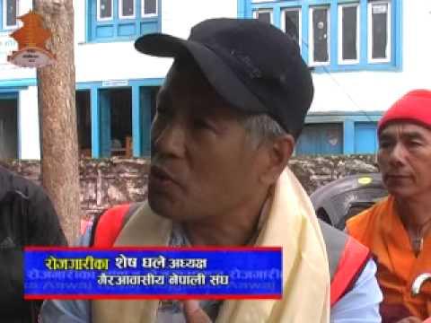 जेठ २१ गते विहिबार विहान ८ः३० बजे नेपाल टेलिभिजनमा प्रशारित रोजगार मिडिया प्रालिको प्रस्तुती कार्यक्रम रोजगारीका आवाजमा गैरआवासीय नेपाली संघले भुकम्प पीडितका लागि पुर्याएको सहयोग, प्रवासी झापाली सम्पर्क मञ्चको राहत वितरण तथा विविध सामाग्री