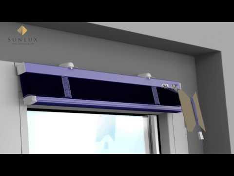 [Animation] Jalousie - Montage auf dem Rahmen mittels Klemmträger