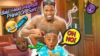 Back To School Bald Head Haircut Prank On Son!