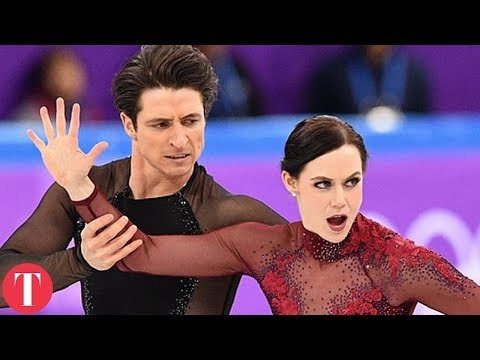 This Figure Skating Move Was TOO HOT For The Olympics (видео)