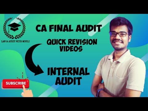 Internal Audit revision | Ca final audit Quick revison videos