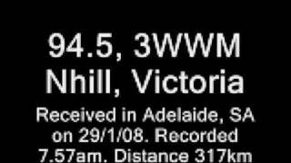 Nhill Australia  city images : FM DX - 3WWM Nhill in Adelaide Aust. (317km)