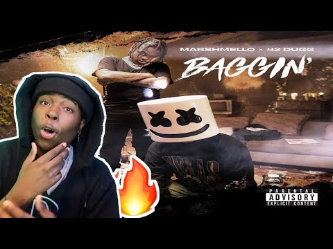 THIS IS A HIT!! | Marshmello x 42 Dugg - Baggin (Official Audio) **REACTION** 🔥🔥🔥