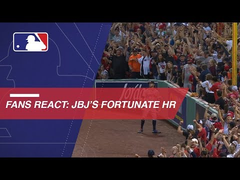 Video: Fans react to Bradley's deflected homer