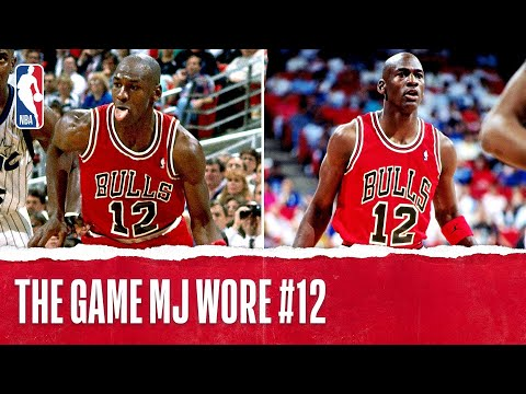 aldel33 - Check out classic Michael Jordan footage during the game where he was forced to compete wearing the number