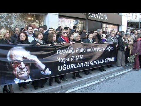 Büyük usta Yaşar Kemal son yolculuğuna uğurlandı