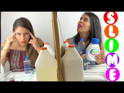 SLIME POR TELEPATIA 🔮 CON MI HERMANA 👭 | Twin Telepathy Slime Challenge With My Sister