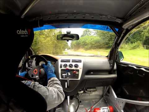 Hillclimb on-board - driver loses steering wheel