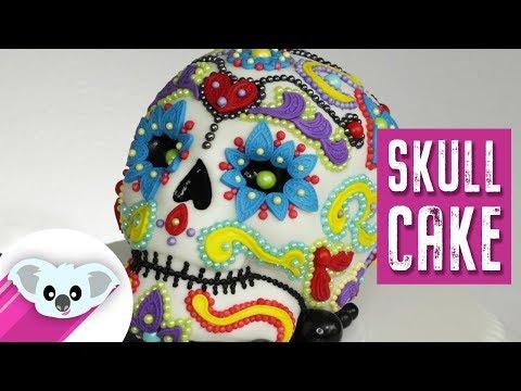 Sugar Skull Cake | Dia de Los Muertos  |DIY & How to