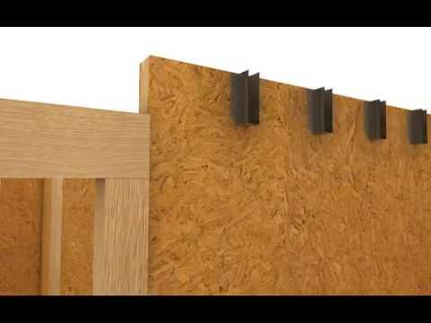 Наглядная схема строительства дома из СИП панелей