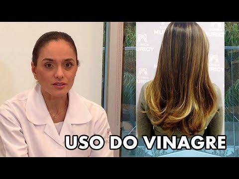 Vinagre para tratar cabelos