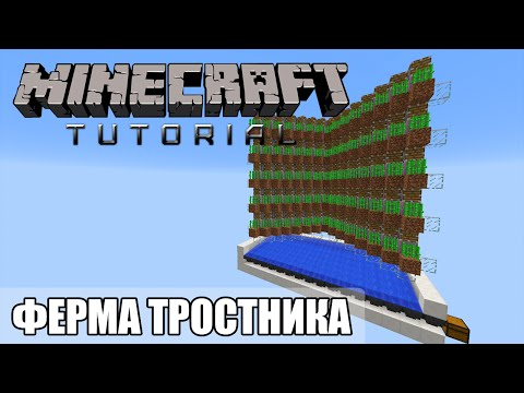 Minecraft Tutorial — Автоматическая ферма тростника [Quick and Easy]
