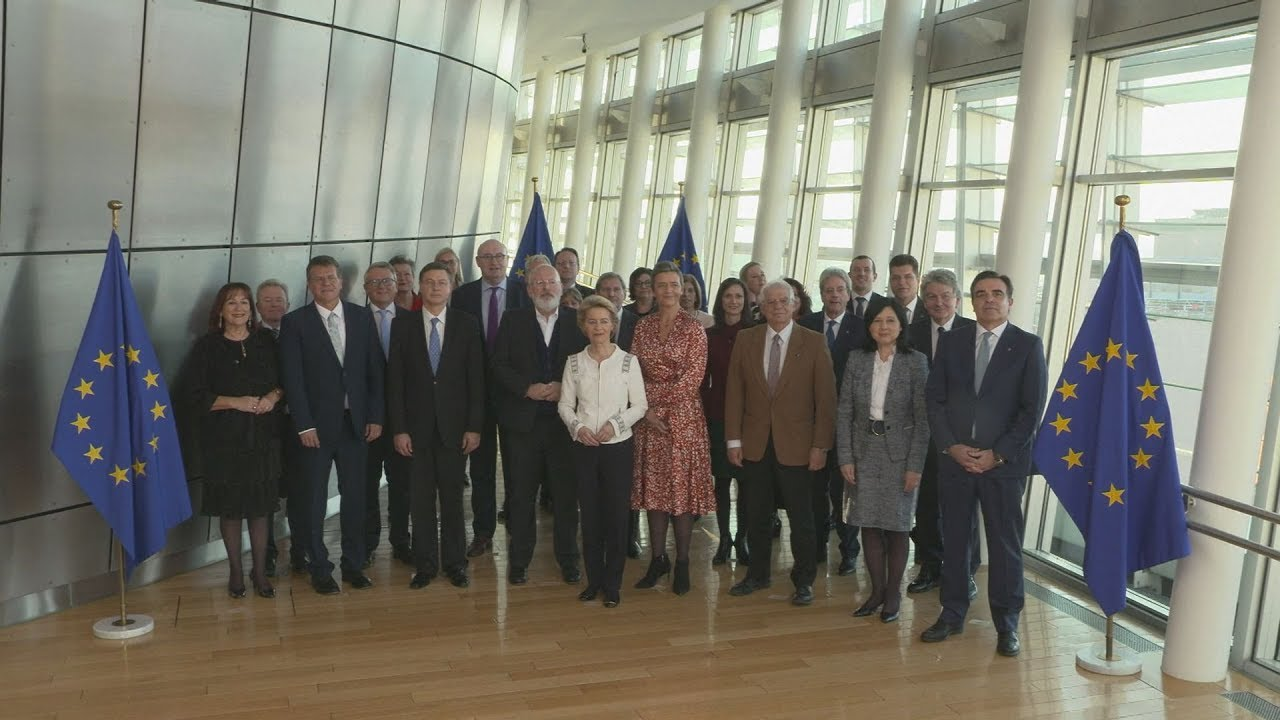 Πρώτη συνεδρίασή του σώματος των επιτρόπων της Ευρωπαϊκής επιτροπής