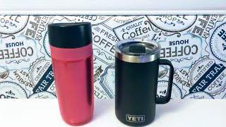 New Yeti 24 oz. Rambler Mug comparison with regular mug