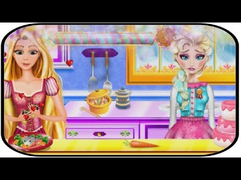 Frozen Elsa And Rapunzel Cooking Disaster HD - Disney Princess Cooking Games For Girls
