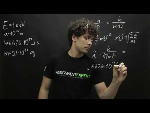 Calculation of de Broglie wavelength of the electron