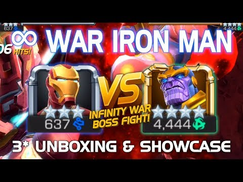 Iron Man (infinity War) Unboxing & Battle Vs. Final Thanos (infinity Gauntlet) Boss W/ Tips | Mcoc