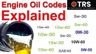 4. Engine Oil Codes Explained, SAE (Society of Automotive Engineers) numbers explained/Viscosity