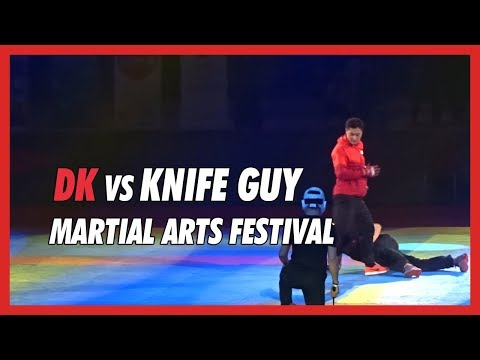 DK vs Knife guy at Martial Arts Festival - DK Yoo