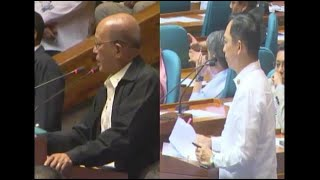 ACT Teachers Rep. Antonio Tinio questioned why martial law should continue to be implemented over the whole of Mindanao during a joint special session of Congress on Saturday, July 22, 2017. Video from House of Representatives