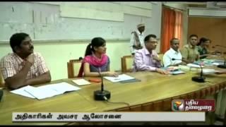 Madurai: Discussion on precautionary measures to be taken in rainy season