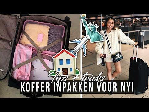 Koffer + handbagage inpakken voor NEW YORK! ☆ SAAR