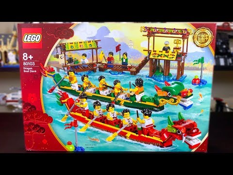 LEGO 80103 Dragon Boat Race Review! EXCLUSIVE 2019 Set!
