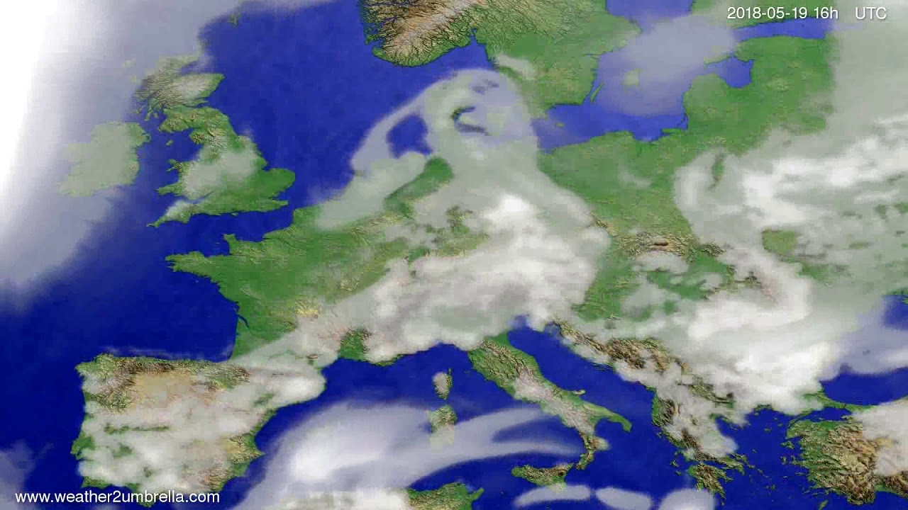 Cloud forecast Europe 2018-05-16
