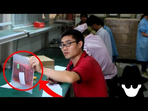 HIDDEN Camera in CHINA Smartphone Factory (видео)