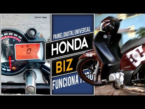 Honda Biz nervosa com painel digital universal streetfighter SF2