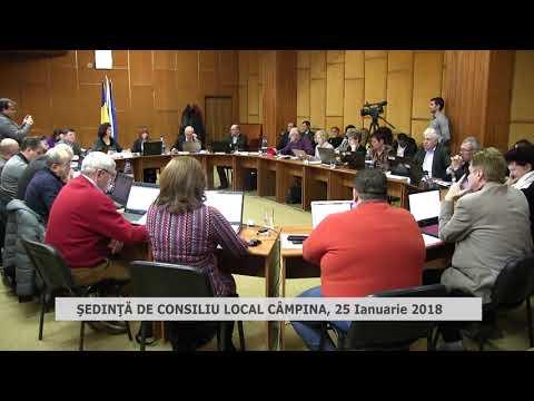 Sedinta consiliu local Campina 25 ianuarie 2018