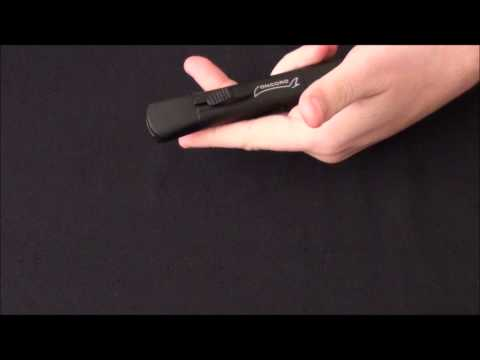 AKC Concord Black OTF Automatic Knife - Flat Grind Black Plain
