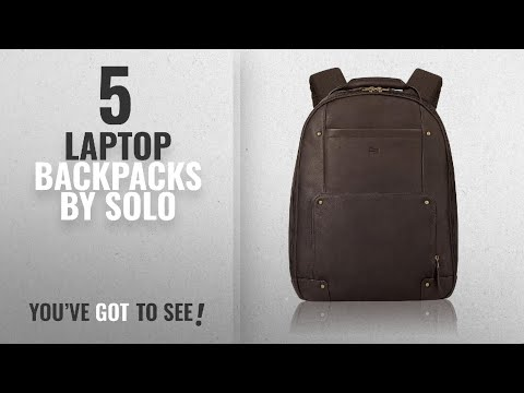 Top 10 Solo Laptop Backpacks [2018]: Solo Vintage Colombian Leather Laptop Backpack, Holds Notebook